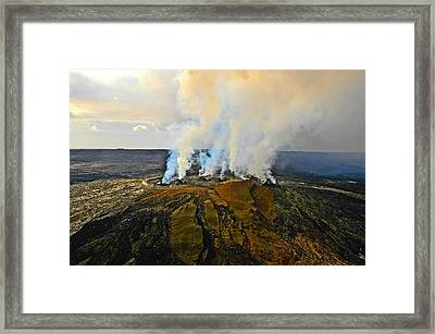 Steam Erupting From A Volcano, Kilauea Framed Print by Panoramic Images