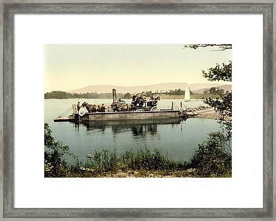 Steam Ferry, Lake Windermere, Uk Framed Print by Science Photo Library