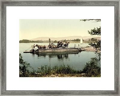 Steam Ferry, Lake Windermere, Uk Framed Print