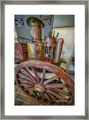 Steam Fire Engine Framed Print by Adrian Evans