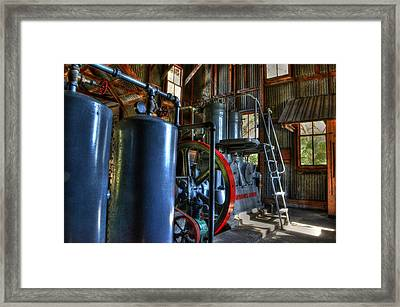 Steam Generator At Koreshan Framed Print by Timothy Lowry
