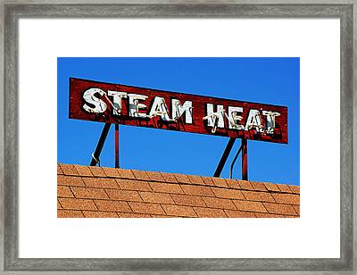 Framed Print featuring the photograph Steam Heat by Daniel Woodrum