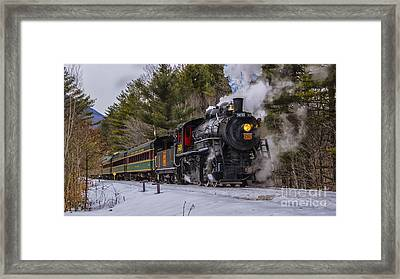 Steam In The Snow 2015 Framed Print