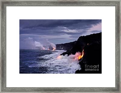 Steam Framed Print by Karl Voss