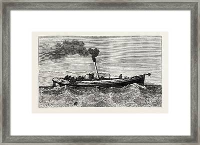 Steam-launch For The Cable-ship Faraday Framed Print