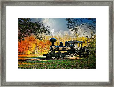 Steam Loco Circa 1909 Framed Print
