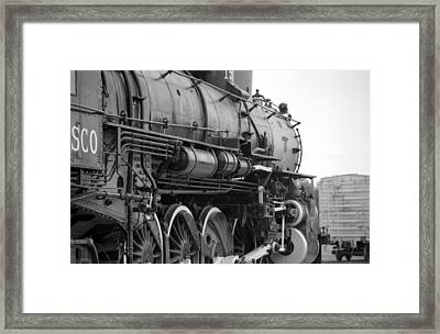 Steam Locomotive 1519 - Bw 02 Framed Print