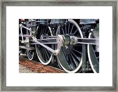 Steam Locomotive Coupling Rod And Driver Wheels Framed Print by Wernher Krutein