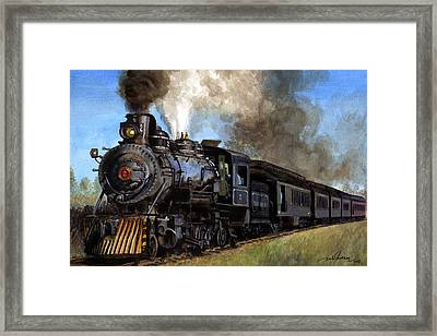 Steam Locomotive Framed Print by Dale Jackson