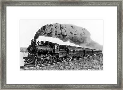 Steam Locomotive No. 999 - C. 1893 Framed Print by Daniel Hagerman