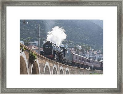 Steam Locomotive Framed Print by Tom Hudson