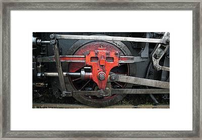 Steam Locomotive Wheel Framed Print by Walter Novak