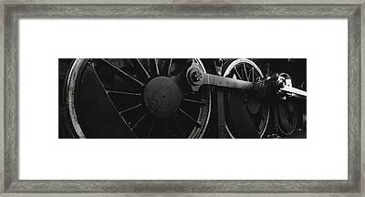 Steam Locomotive Wheels Framed Print by Panoramic Images