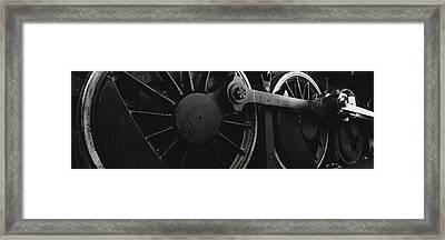 Steam Locomotive Wheels Framed Print