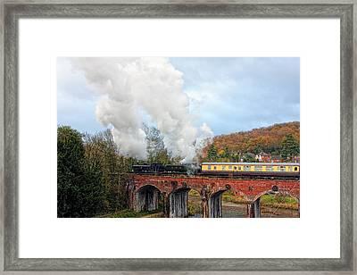 Steam Locos On Coalbrookdale Viaduct Framed Print by Paul Williams