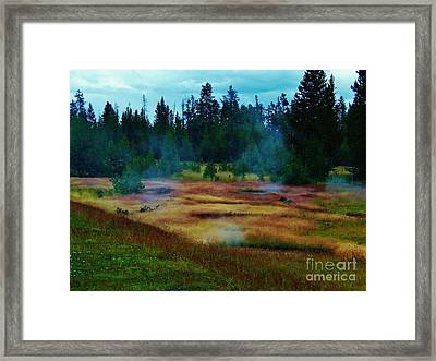 Steam Marsh Framed Print by Larry Campbell