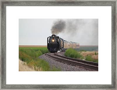 Steam On The Plains Framed Print