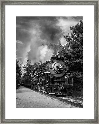 Steam On The Rails Framed Print