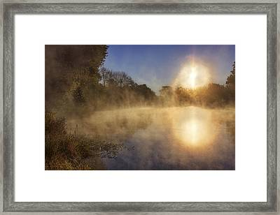 Steam On The Water Framed Print by Jason Politte