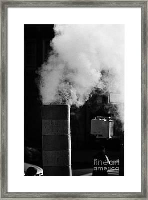 Steam Pipe Vent Stack New York City Framed Print by Joe Fox