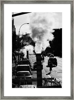 Steam Pipe Vent Stack New York City Street Manhattan Framed Print by Joe Fox