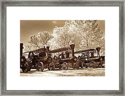 Steam Powered Farming Framed Print