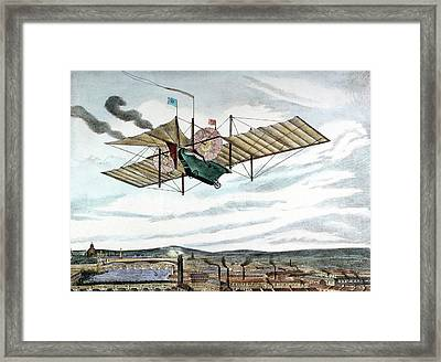 Steam-powered Flying Machine Framed Print by Universal History Archive/uig