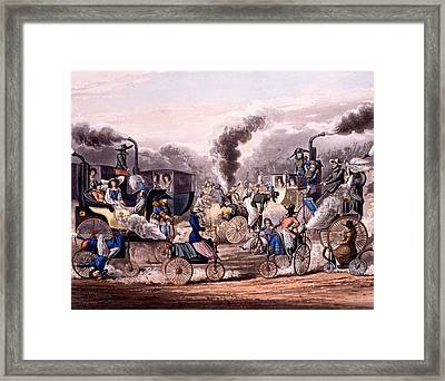 Steam-powered Vehicles Framed Print by English School