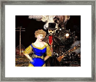 Steam Punk Love Framed Print by Larry Lamb