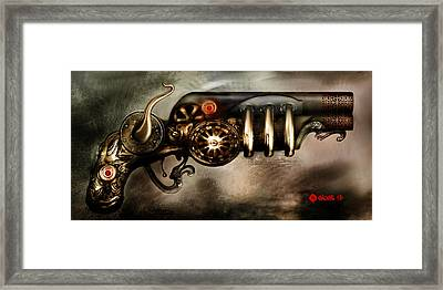 Steam Punk Pistol Mk II Framed Print