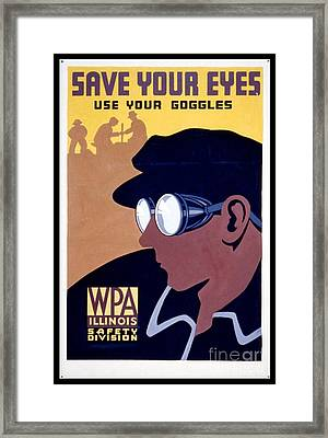 Steam Punk Wpa Vintage Safety Poster Framed Print