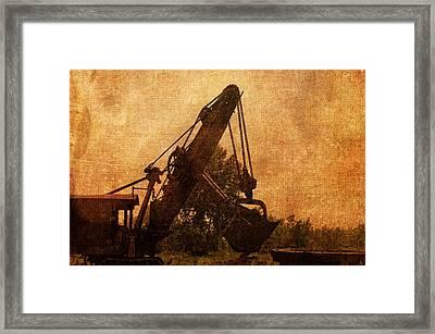 Steam Framed Print by Rhonda Barrett