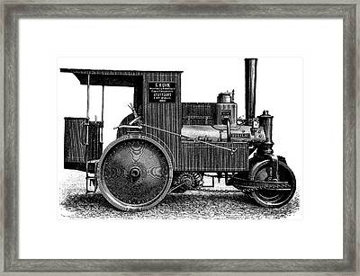 Steam Road Roller Framed Print by Bildagentur-online/tschanz