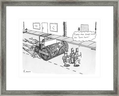Steam Roller Driving Behind A Marching Band Framed Print by Zachary Kanin