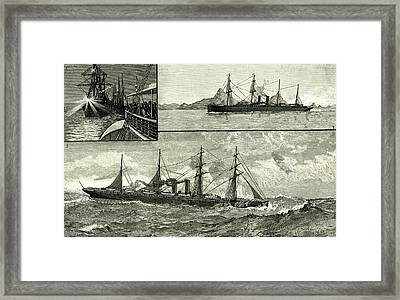 Steam Ship Ormuz Australia To England 1887 On The Voyage Framed Print by Australian School