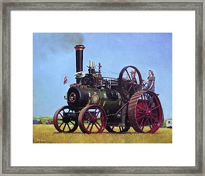 steam traction engine Ransomes Sims and Jefferies General Purpose Engine Framed Print by Martin Davey