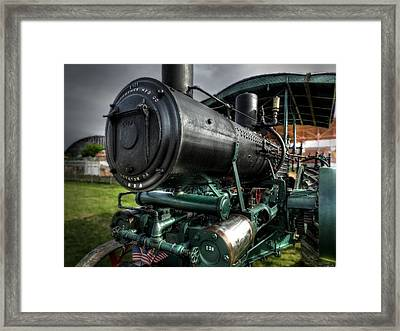 Steam Tractor 001 Framed Print by Lance Vaughn