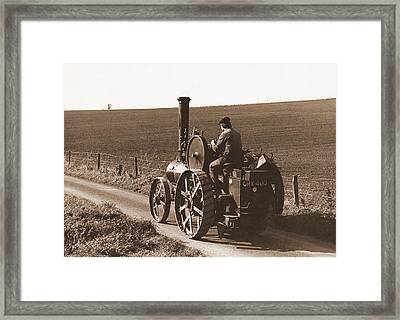 Steam Tractor Framed Print