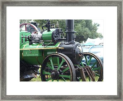 Steam Tractor Lives On Framed Print by Patricia Howitt