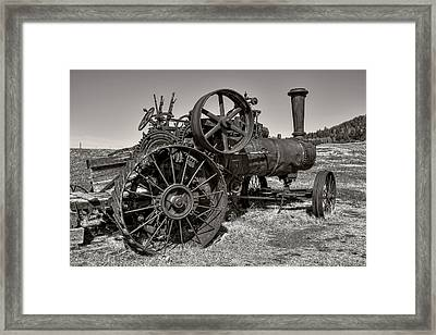 Steam Tractor - Molson Ghost Town Framed Print