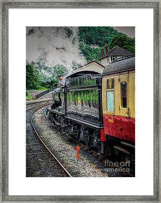Steam Train 3802 Framed Print by Adrian Evans