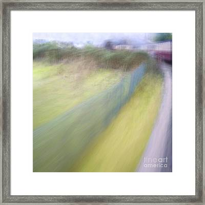 Steam Train Abstract Framed Print by Natalie Kinnear