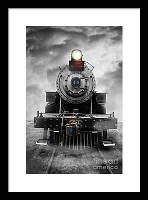 Vintage Trains Framed Prints