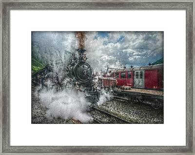 Steam Train Framed Print by Hanny Heim