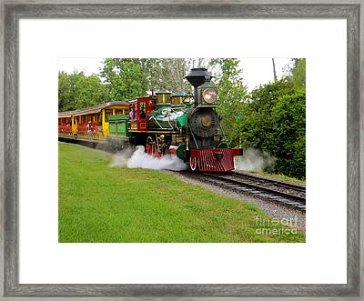 Steam Train Framed Print by Joy Hardee