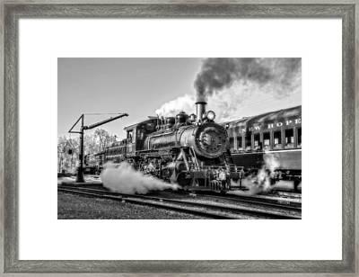 Steam Train No. 40 Bw Framed Print by Susan Candelario