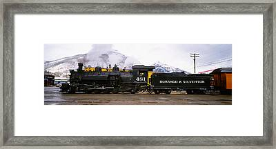 Steam Train On Railroad Track, Durango Framed Print by Panoramic Images