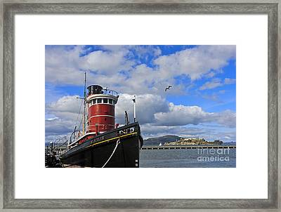 Framed Print featuring the photograph Steam Tug Hercules by Kate Brown