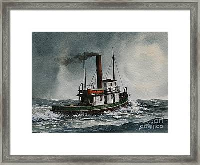 Steam Tugboat Katadin Framed Print