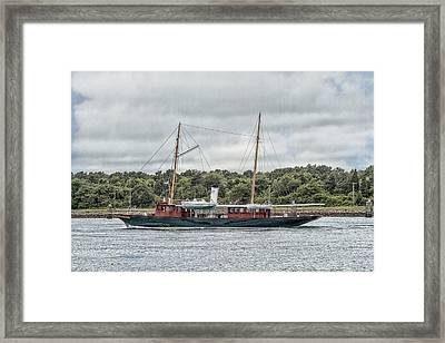 Steam Yacht Cangarda Framed Print